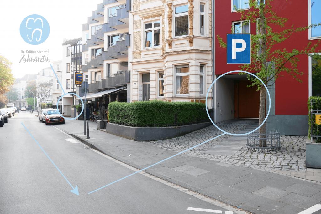 Praxis Parkplatz 1 Zahnarztpraxis Dr. Grüttner Schroff